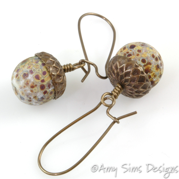 Bronze Gl Acorn Earrings